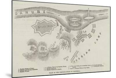 Plan of the Fortifications of Silistria--Mounted Giclee Print