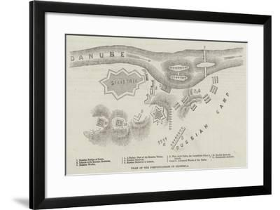 Plan of the Fortifications of Silistria--Framed Giclee Print