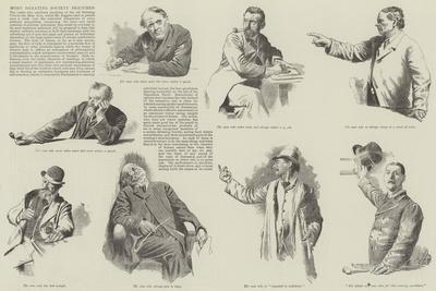 More Debating Society Sketches--Framed Giclee Print