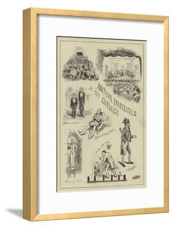 Amateur Theatricals at the Curragh--Framed Giclee Print