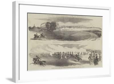 Grand Artillery Review at Woolwich--Framed Giclee Print