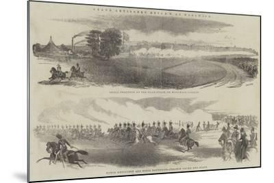 Grand Artillery Review at Woolwich--Mounted Giclee Print