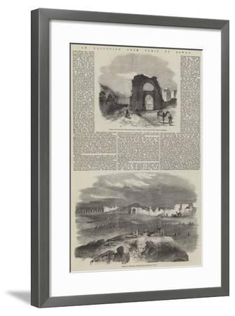 An Excursion from Tunis to Zowan--Framed Giclee Print