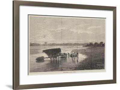 River Scenery in India, Sunset--Framed Giclee Print