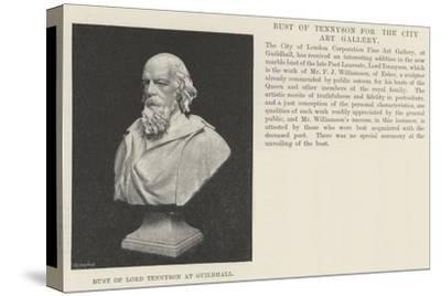 Bust of Lord Tennyson at Guildhall--Stretched Canvas Print