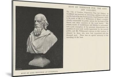 Bust of Lord Tennyson at Guildhall--Mounted Giclee Print