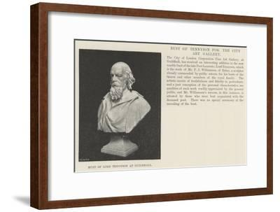 Bust of Lord Tennyson at Guildhall--Framed Giclee Print