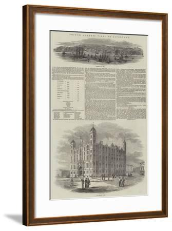 Prince Albert's Visit to Liverpool--Framed Giclee Print