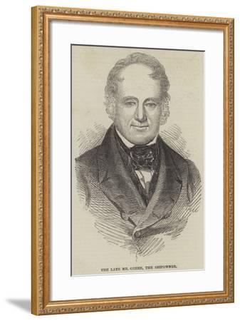 The Late Mr Green, the Shipowner--Framed Giclee Print