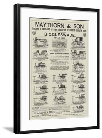 Advertisement, Maythorn and Son--Framed Giclee Print