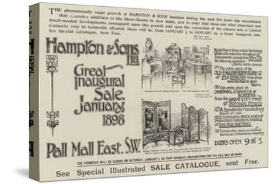 Advertisement, Hampton and Sons--Stretched Canvas Print