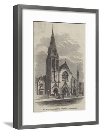 St Bartholomew's Church, Islington--Framed Giclee Print