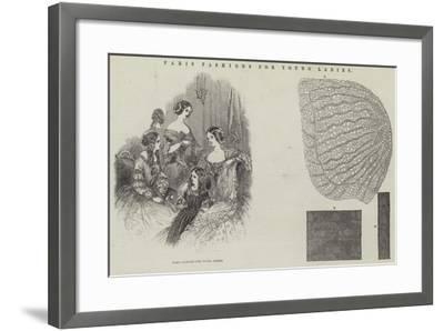 Paris Fashions for Young Ladies--Framed Giclee Print