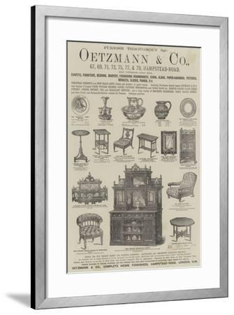 Advertisement, Oetzmann and Company--Framed Giclee Print