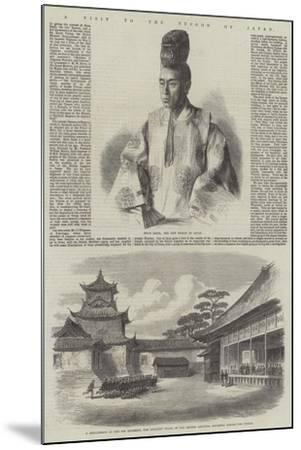 A Visit to the Tycoon of Japan--Mounted Giclee Print