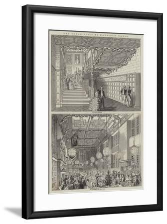 The Royal Visit to Hatfield House--Framed Giclee Print