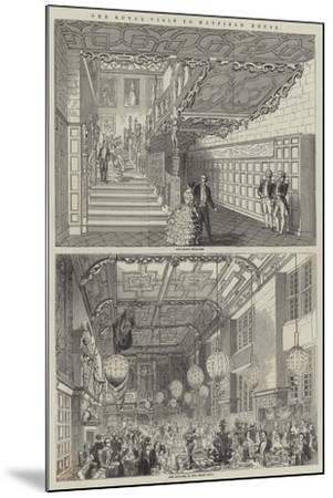 The Royal Visit to Hatfield House--Mounted Giclee Print