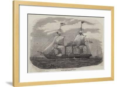 The New Cunard Steam-Ship Arabia--Framed Giclee Print