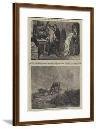 Exhibition of the Royal Academy--Framed Giclee Print