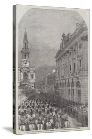 Funeral of the Duke of Wellington--Stretched Canvas Print