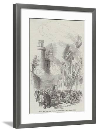 Fire at Trinity Hall, Cambridge--Framed Giclee Print