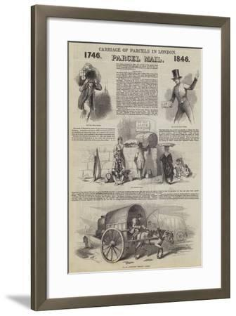 Carriage of Parcels in London--Framed Giclee Print