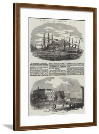 Sketches at Constantinople--Framed Giclee Print