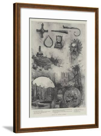 Relics of Ancient Durham--Framed Giclee Print