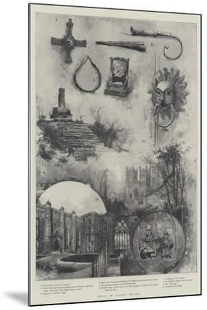 Relics of Ancient Durham--Mounted Giclee Print