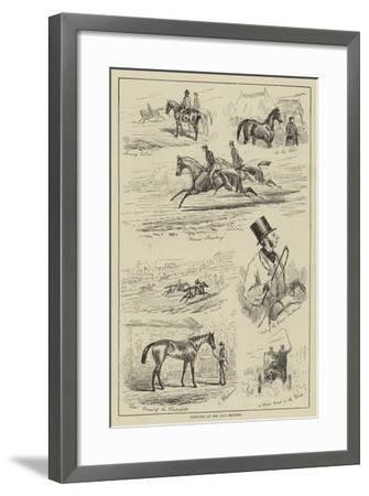 Sketches at the July Meeting--Framed Giclee Print