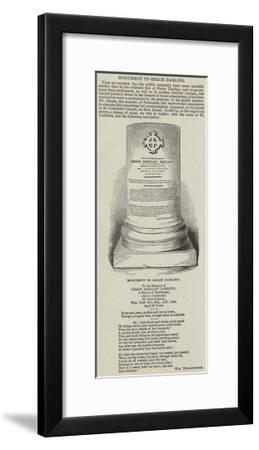 Monument to Grace Darling--Framed Giclee Print
