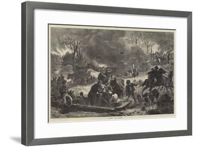 A Forest Fire in America--Framed Giclee Print