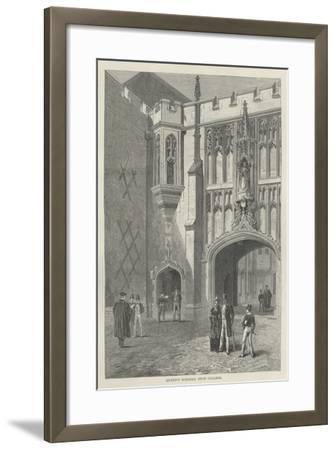 Queen's Schools, Eton College--Framed Giclee Print