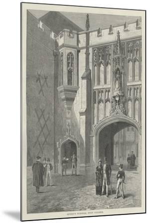 Queen's Schools, Eton College--Mounted Giclee Print