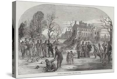 Curling, at Croxteth Hall--Stretched Canvas Print