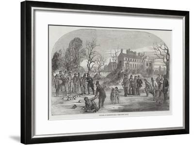 Curling, at Croxteth Hall--Framed Giclee Print