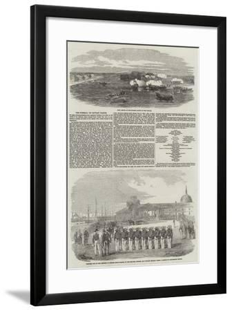 The Funeral of Captain Parker--Framed Giclee Print