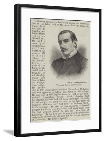 The Late Professor Goodhart--Framed Giclee Print