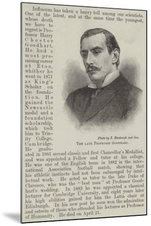 The Late Professor Goodhart--Mounted Giclee Print