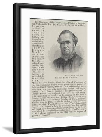 The Reverend Dr G S Barrett--Framed Giclee Print
