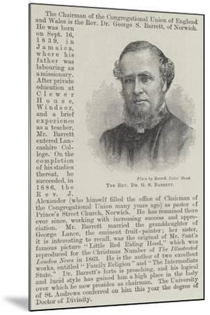 The Reverend Dr G S Barrett--Mounted Giclee Print