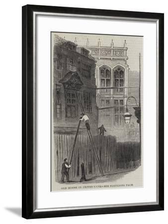 Old House in Fetter-Lane--Framed Giclee Print