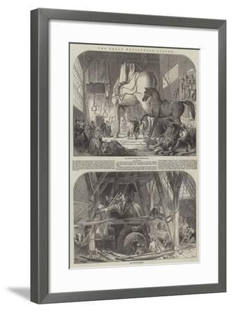 The Great Wellington Statue--Framed Giclee Print