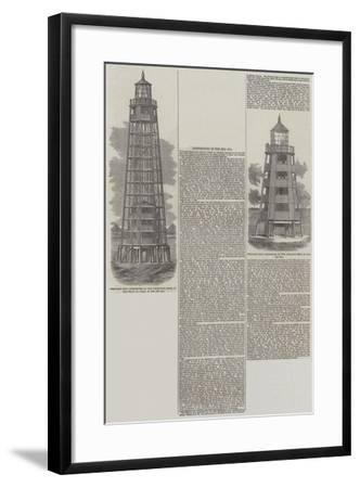 Lighthouses in the Red Sea--Framed Giclee Print