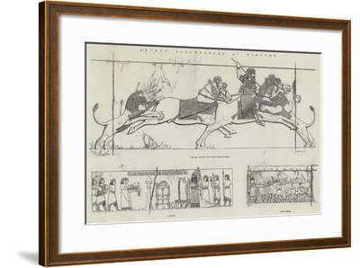 Recent Discoveries at Nineveh--Framed Giclee Print