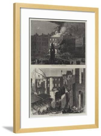 The Fire at Savile House--Framed Giclee Print