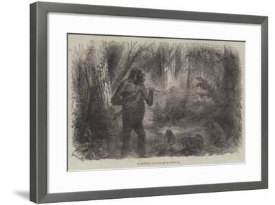 A Hunter Killed by a Gorilla--Framed Giclee Print
