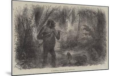 A Hunter Killed by a Gorilla--Mounted Giclee Print