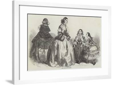 Paris Fashions for March--Framed Giclee Print