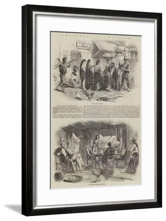 Sketches in Manilla--Framed Giclee Print